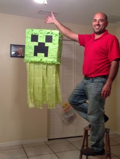 Minecraft homemade piñata