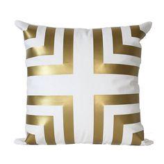 """Metallic Gold Chevron Corner Stripe Euro 22"""" x 22"""" or 24"""" x 24"""" Pillow Cover on Etsy, $45.00"""