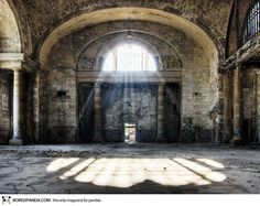 Abandoned Michigan Central Railroad Station in Detroit, Michigan