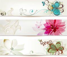 vectores florales de colores png - Buscar con Google