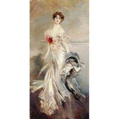 Posterazzi Madame Marthe Regnier Canvas Art - Giovanni Boldini (10 x 20)