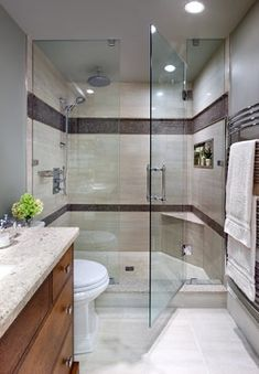 Decorative tile around the shower