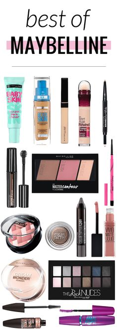 The best of Maybelline makeup - great reference for when you're out shopping!