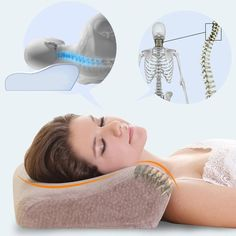Great Snoring Remedies Pillows Orthopedic Neck Support Bed Pillow Save your Neck and Stop Snoring New Design Contour Pillow Causes Of Sleep Apnea, Sleep Apnea Remedies, Snoring Remedies, Lymph Massage, Neck Massage, Neck Support Pillow, Neck Pillow, Cervical Spondylosis, Ligaments And Tendons