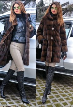 NEW 2015 Romagna Italy Reversible Royal Saga Mink FUR Coat Sable Color Jacket | eBay