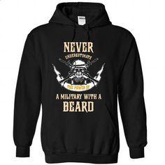 A MILITARY With A Beard - #tee times #geek t shirts. BUY NOW => https://www.sunfrog.com/Faith/A-MILITARY-With-A-Beard-7884-Black-28615444-Hoodie.html?60505