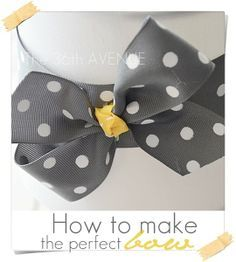 How to make a perfect bow tutorial... Super cute for hair accessories!