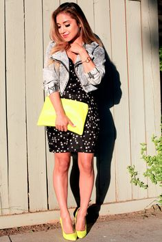 denim jacket and yellow details ::: dulce candy