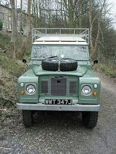 Garreth and Bonnie Sutton - Euerbach Germany - their 1971 Land Rover 109 - Series IIA - 3 door - undergoing restoration - Metal grill is the standard SIIA item, silver headlamp surrounds are a no cost option.
