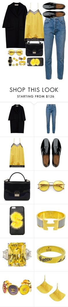 """""""Untitled #620"""" by victoriaam99 ❤ liked on Polyvore featuring Marni, 10 Crosby Derek Lam, Gucci, FitFlop, Furla, Wildfox, Fendi, Hermès, Chanel and Gurhan"""