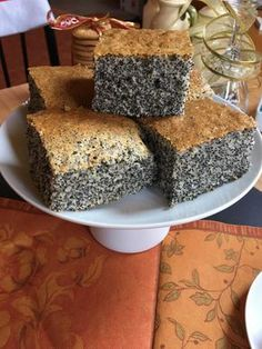 Zseniális Mákos Szelet | Serpenyő Virtuóz Blog Gourmet Recipes, Cake Recipes, Cooking Recipes, Delicious Dinner Recipes, Yummy Food, Hungarian Recipes, Sweet Cakes, Creative Food, Cakes And More