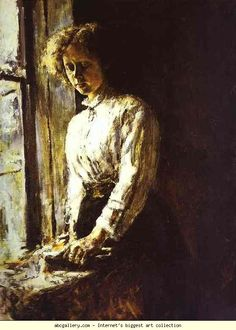 Valentin Serov. By the Window. Portrait of Olga Trubnikova.