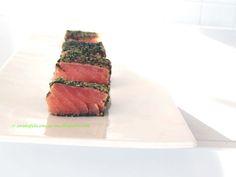 Arabafelice in cucina!: Bocconcini di salmone crudo ai pistacchi