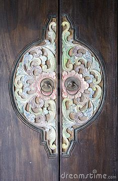 Traditional Balinese wood carved door...one of the many things I love about Bali