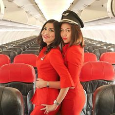 Air Asia stewardesses - very friendly towards customers - wanting to serve their every wish. and i mean EVERY wish...