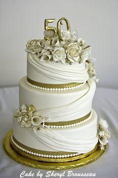 50th Anniversary Cake — Anniversary Cakes