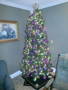 A mardi gras tree is a Must!