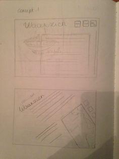 Fase 2: schetsen concept 1