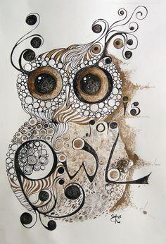 'My Sweet Owl' by sirobnaiv Buhos y lechuzas dibujos