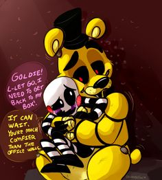 Aww! Marionette and Golden Freddy! OrlandoFox convinces me to ship ANYBODY! So whoever he/she ships, I ship X3