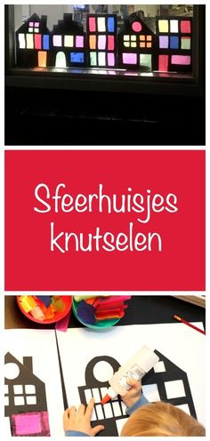 sfeerhuisjesknutselen, sinterklaas, winterknutsel, crafts for kids, Diy Arts And Crafts, Creative Crafts, Home Crafts, Diy Crafts, Homemade Crafts, Paper Crafts, Diy For Kids, Crafts For Kids, Winter Diy