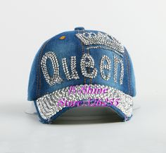 Beauty caps new design popular women rhinestone star denim baseball cap  fashion brand woman jean crystal 6b894c44eeea