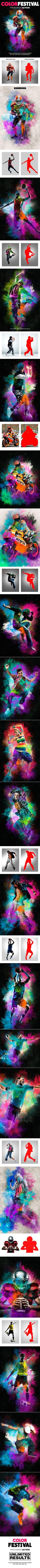 Color Festival Photoshop Action  Dust Effect — Photoshop ATN #action • Download ➝ https://graphicriver.net/item/color-festival-photoshop-action-dust-effect/19250033?ref=pxcr