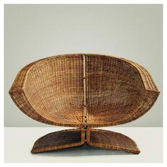 "Miller Yee Fong ""Lotus"" chair. (1968) Rattan over wrought iron"
