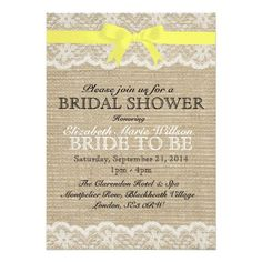 >>>best recommended          White Lace & Yellow Bow, Burlap Bridal Shower Invite           White Lace & Yellow Bow, Burlap Bridal Shower Invite We have the best promotion for you and if you are interested in the related item or need more information reviews from the x customer who are...Cleck Hot Deals >>> http://www.zazzle.com/white_lace_yellow_bow_burlap_bridal_shower_invitation-161496809624264662?rf=238627982471231924&zbar=1&tc=terrest