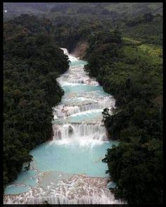 Blue Water Waterfalls, Mexico.