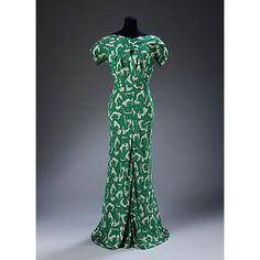 Evening dress    Place of origin:  Paris, France (probably, made)    Date:  1938 (made)