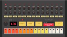 Make your own beats with this slick HTML5 drum machine!