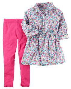 Baby Girl 2-Piece Floral Tunic & Legging Set | Carters.com