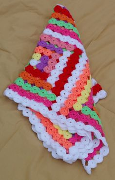 Free Crochet Baby Blanket Patterns | BABY BLANKET CROCHETED FREE PATTERN - Crochet — Learn How to Crochet ✿Teresa Restegui http://www.pinterest.com/teretegui/✿