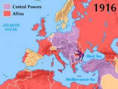 CC History Sentence Week 14: World War I Summary 6min video shows the map during the war and narrator describes the war, year by year.