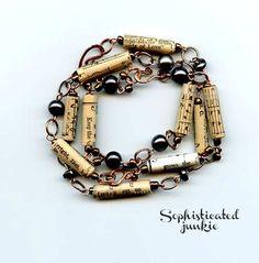 Hymnal Paper Beaded Bracelet Set.