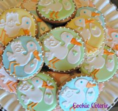 Stork Cookies Decorated Sugar Cookies Baby Shower by CookieCoterie, $18.00