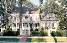 Plan Stunner with Second Story Deck - Fully Amortized Mortgage Calculator - Choose the Best Flood Insurance. - Plan Photo Gallery Premium Collection Southern Luxury Corner Lot Traditional House Plans & Home Designs Style At Home, Future House, My House, Story House, Second Story Deck, Architecture Design, Facade Design, Traditional House Plans, Traditional Exterior