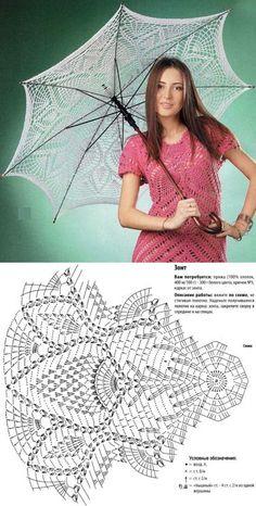 Зонтик на лето крючком  <3 Deniz <3