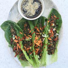 Thai Lentil Lettuce Wraps