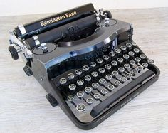 Working Vintage Remington Rand Model 1 Portable by anodyneandink, $250.00