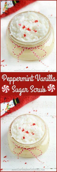 Peppermint Vanilla Sugar Scrub
