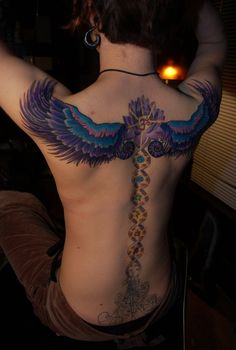 kundalini caduceus tattoo design by sara huntley tattoo artists: philip milic and corey divine Chakra Tattoo, Caduceus Tattoo, Tattoo Son, Tattoo Motive, Spine Tattoo For Men, Spine Tattoos, Back Tattoos, Body Art Tattoos, Tattoo Ideas