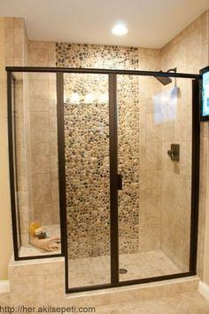 51 Stunning Shower Tile Design Ideas to Remodel Your Bathroom # Master Bath Remodel, Diy Bathroom Remodel, Bathroom Renos, Bathroom Renovations, Next Bathroom, Small Bathroom, Bathroom Showers, Cool Bathroom Ideas, White Bathroom