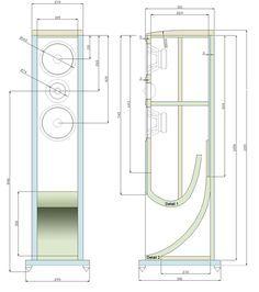 BW Bowers Wilkins Big Vent Reflex Short Horn d'Appolito Loudspeaker System Construction and Plans Speaker Amplifier, Hifi Audio, Built In Speakers, Wireless Speakers, Music Speakers, Subwoofer Box Design, Speaker Box Design, Audio Design, Sound Design
