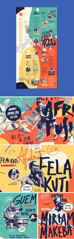 Expressive, colorful hand-lettered poster design for the Afro Fusion Festival Layout Design, Graphisches Design, Creative Design, Flyer Design, Editorial Design, Editorial Layout, Dm Poster, Poster Design, Design Graphique