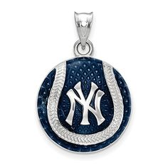 SS New York Yankees Interlocking NY Cap Logo Baseball Enameled Pendant * Learn more by visiting the image link.