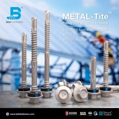 BDN Fasteners® manufactures Australian AS3566 Standard self-drilling metal screws in different drive styles, lengths and sizes. ★ Fast and Stable Drilling Performance ★ Stringent, In-house Quality Control ★ 100% Weather Sealed ★ 100% Made In Taiwan Steel Trusses, Roof Trusses, Roofing Screws, Roof Cladding, Thermal Expansion, Steel Sheet, Fasteners, Drill