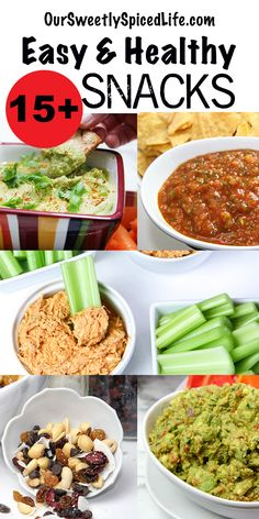 Easy Healthy Snacks to try today! Check out these simple, healthy treats for kids and adults alike! Whether you like quick appetizers like fresh salsas and tasty dips or sweet but guilt free energy bites or snack bars, there are sweet or savory snack Healthy Treats For Kids, Healthy Snacks Before Bed, Clean Eating Snacks, Healthy Eating, Simple Healthy Snacks, Healthy Snack Options, Healthy Fruits, Savory Snacks, Easy Snacks
