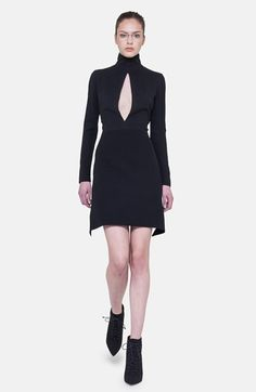 Akris Long Sleeve Silk Plissé Detail Dress available at #Nordstrom